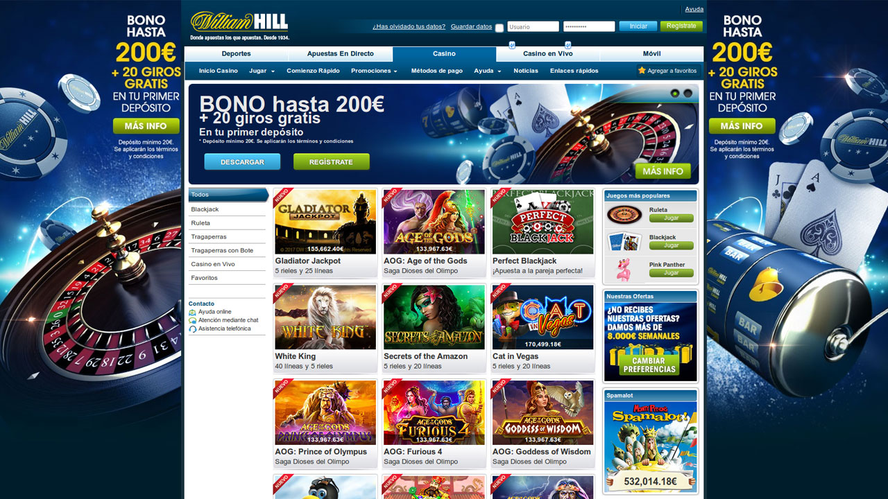 bono sin deposito casino william hill