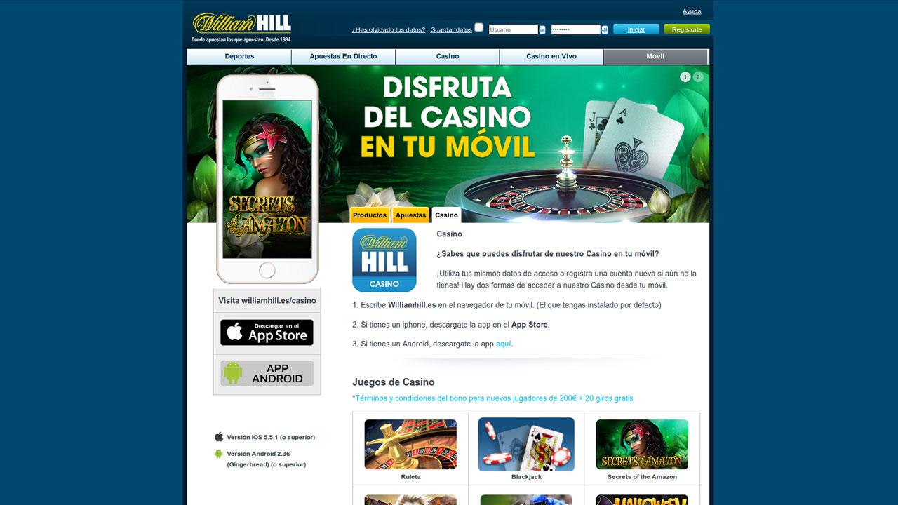 william hill casino software
